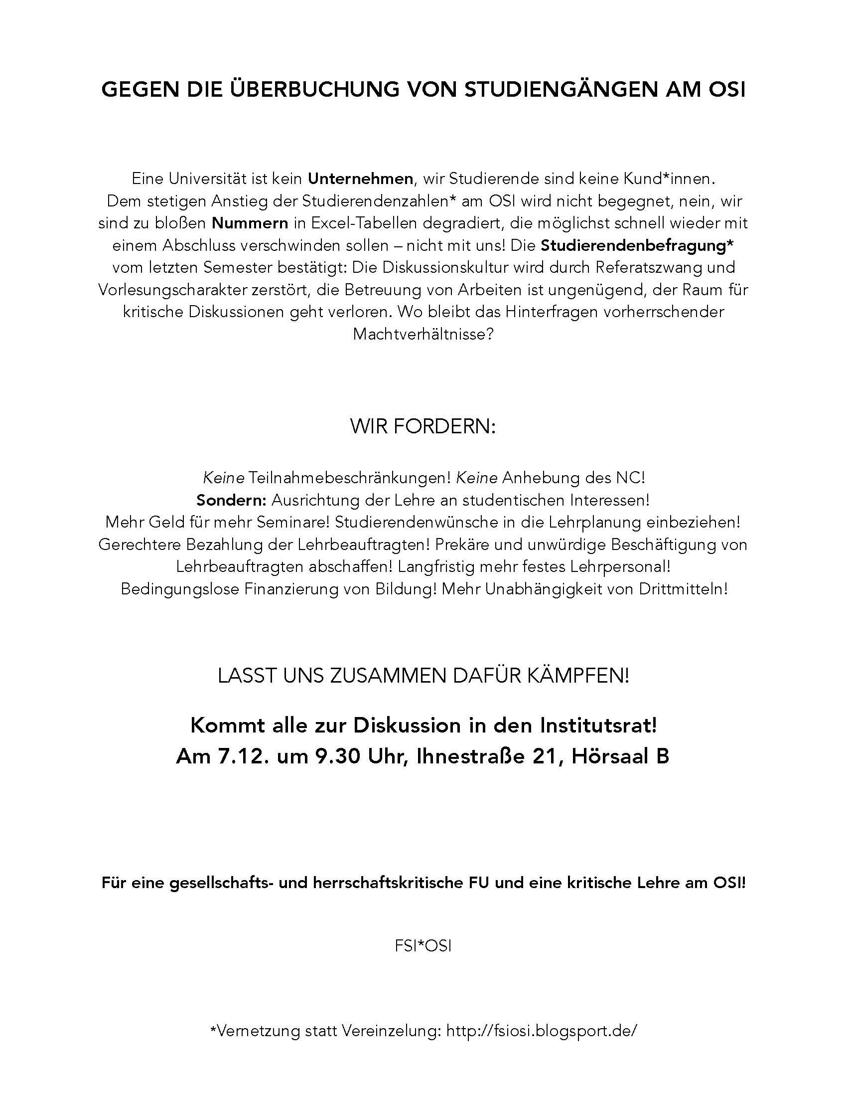 Archiv Fachschaftsinitiative Otto Suhr Institut